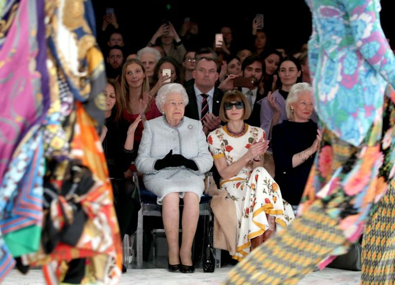 The Queen made her front row debut yesterday, making headlines around the world. Photo: Getty