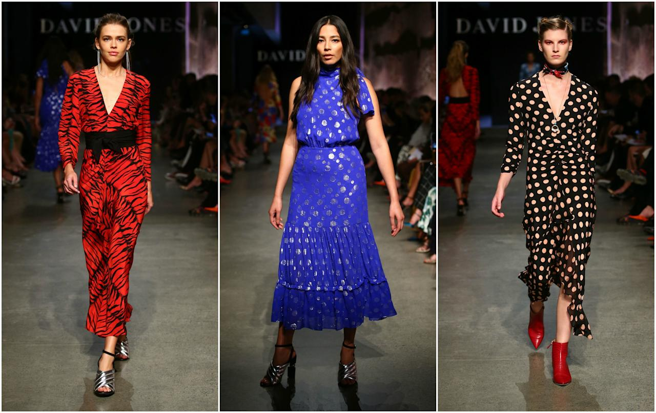 <p>Designer Rixo London was all about bold colours and prints this season. Source: Mark Nolan/Getty </p>