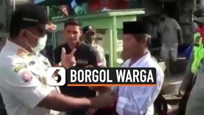 VIDEO: Beri Efek Jera, Petugas Borgol Warga yang Tak Pakai Masker