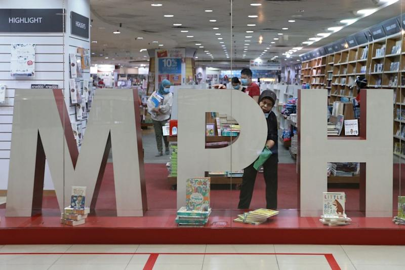 General view of an MPH bookstore in Subang Parade June 2, 2020. — Picture by Ahmad Zamzahuri