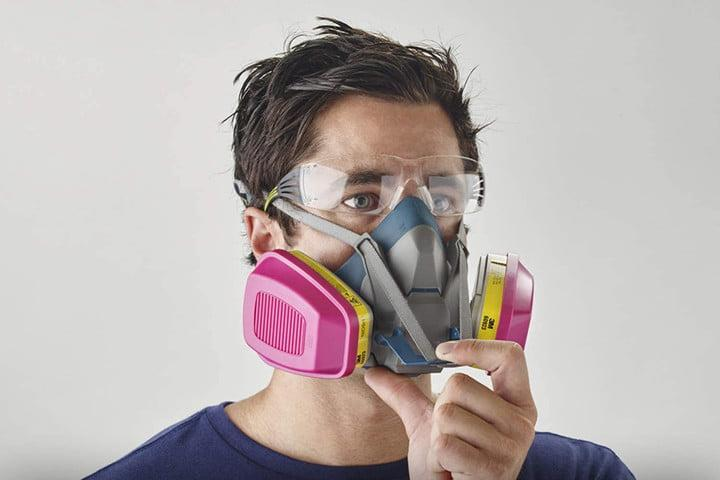 3m half mask cartridge respirator