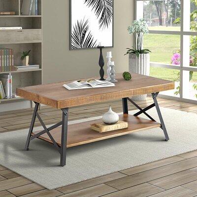 Union Rustic Juarez Coffee Table W Storage Stone Metal In Black Size 18 H X 46 W X 26 D Wayfair D0d86611e6ce4618baefe09b2e5adfc5 Yahoo Shopping