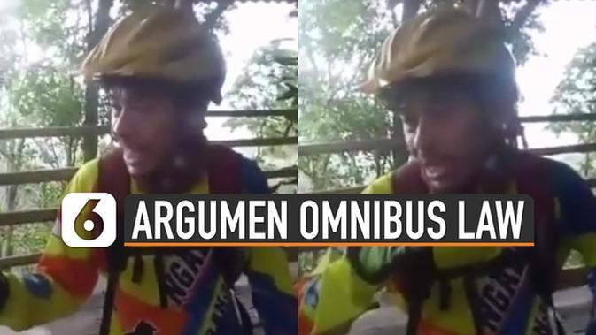 VIDEO: Ngakak, Argumen Pria Ini Menanggapi Tentang UU Omnibus Law