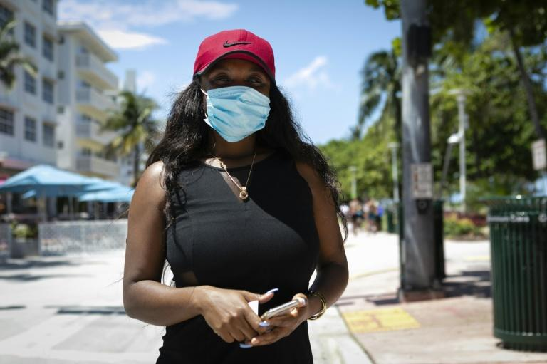 Kathia Joseph, who owns a French bakery and bistro in Miami Beach, says only about half of her customers obey guidelines aimed at containing the spread of the novel coronavirus