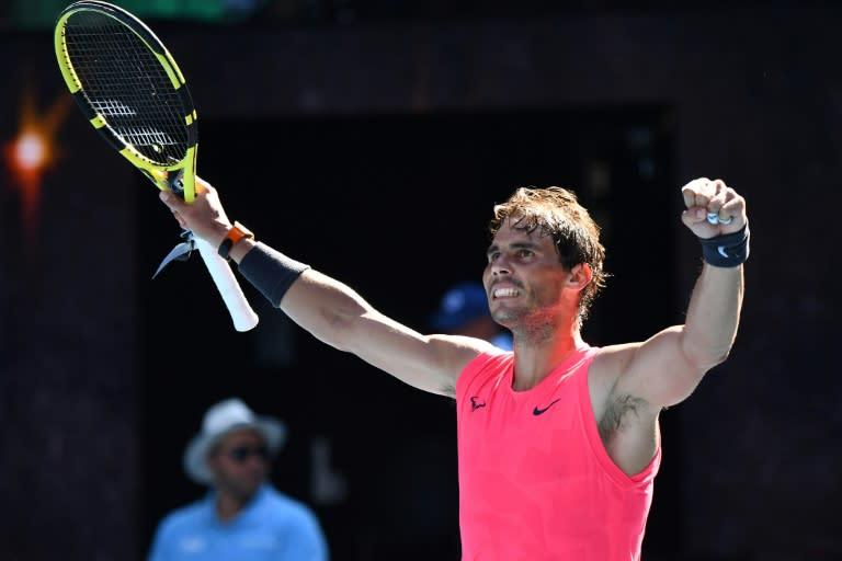 Rafael Nadal beat fellow Spaniard Pablo Carreno Busta in the third round