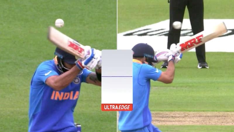Snicko replays showed no edge off Virat Kohli's bat. Pic: ICC