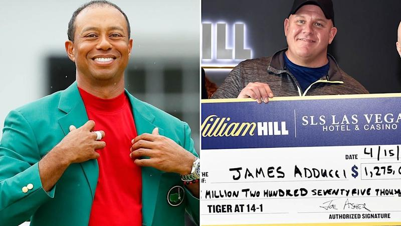 James Adducci won AU$1.65m betting on Tiger Woods to win the Masters. Pic: Getty