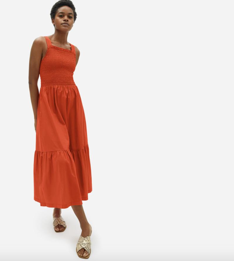 Everlane Smock Dress in Cayenne