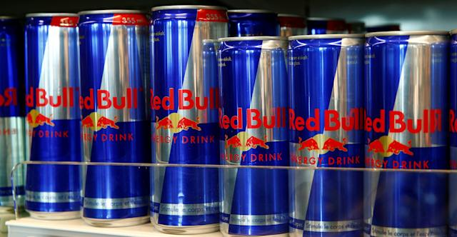 A row of Red Bull's, the leadingenergy currently on the market. (Arnd Wiegmann / Reuters)