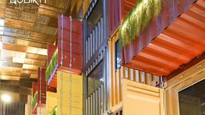 Qubika Hotel, hotel yang menghadirkan sentuhan kontainer di dalamnya, terletak di Gading Serpong, Tangerang, Banten. (dok. Instagram @qubikahotel/https://www.instagram.com/p/B-WhsueBEPo/)