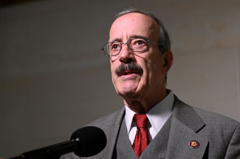 FILE PHOTO: Rep. Engel arrives to hear testimony from U.S. Ambassador to the European Union Sondland as part of the impeachment inquiry led by the House Intelligence, House Foreign Affairs and House Oversight and Reform Committees in Washington