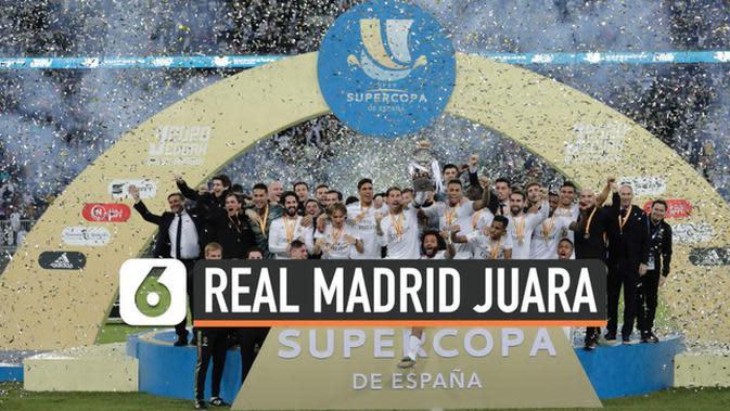 VIDEO: Menang Adu Penalti 4-1, Real Madrid Juara Piala Super Spanyol