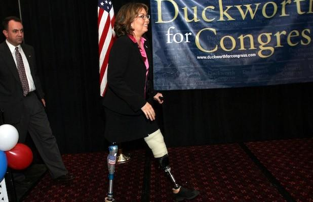 Sen Tammy Duckworth Rips 'Desperate' Tucker Carlson and Trump for Questioning Her Patriotism: 'These Titanium Legs Don't Buckle'