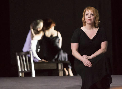 This photo provided by the Houston Grand Opera shows Nina Stemme performing as Isolde in Houston Grand Opera's Tristan and Isolde. (AP Photo/Houston Grand Opera, Felix Sanchez)