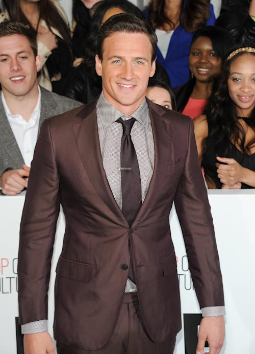 "Olympic swimmer Ryan Lochte from ""What Would Ryan Lochte Do?"" attends the E! Network 2013 Upfront at the Manhattan Center on Monday April 22, 2013 in New York. (Photo by Evan Agostini/Invision/AP)"