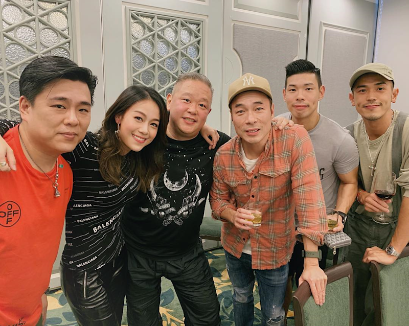 Wong (second from left) will be making a comeback after TVB agreed to air a TV series, featuring the actress, that had been kept in cold storage. — Picture via Instagram