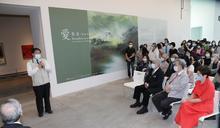 張忠謀夫人張淑芬首場個展獻台南 黃偉哲大讚畫作獨樹一格引人入勝