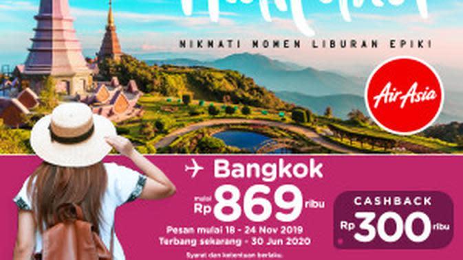 Promo AirAsia ke Bangkok.
