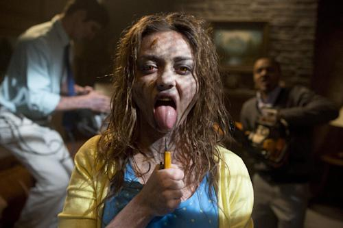 "This film publicity image released by Dimension Films/The Weinstein Co. shows Sarah Hyland in a scene from ""Scary Movie 5."" (AP Photo/Dimension Films/The Weinstein Co., Peter Iovino)"