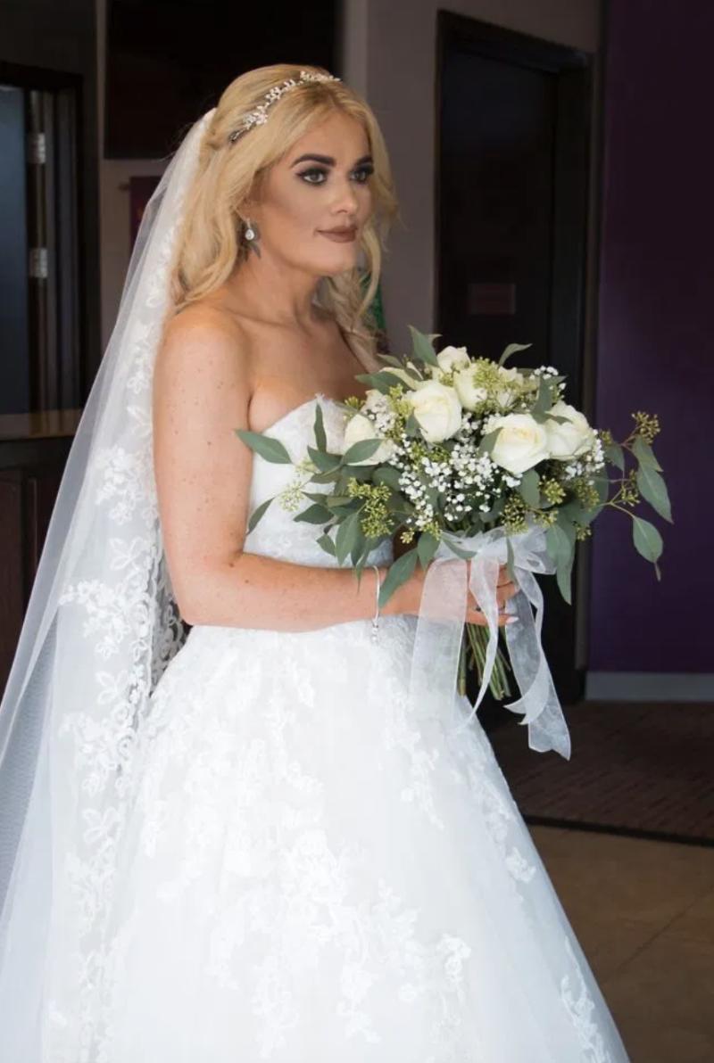 Gemma semblait éblouissante lors de son grand jour. Photo: Kennedy News et Media