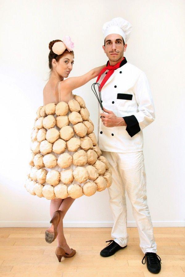 """<p>Are you a foodie? These chef and  croquembouche costumes are too clever for words! Magnifique! </p><p><strong>Get the tutorial at</strong> <strong><a href=""""https://studiodiy.com/haunted-housewarming-our-costumes//"""" target=""""_blank"""">Studio DIY</a>. </strong></p><p><a class=""""body-btn-link"""" href=""""https://www.amazon.com/Coffee-Filters-12-Cup-Size-Package/dp/B004E2PUMS/ref=sr_1_1?dchild=1&keywords=coffee+filters&qid=1592330047&sr=8-1&tag=syn-yahoo-20&ascsubtag=%5Bartid%7C10050.g.21600836%5Bsrc%7Cyahoo-us"""" target=""""_blank"""">SHOP COFFEE FILTERS</a></p>"""