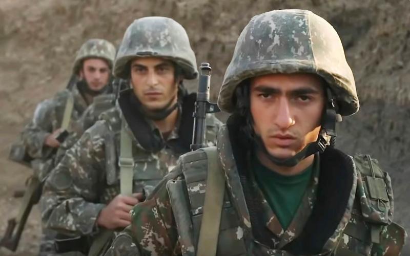 Armenian soldiers in the self-proclaimed Republic of Nagorno-Karabakh, Azerbaijan - Armenian Defence Ministry