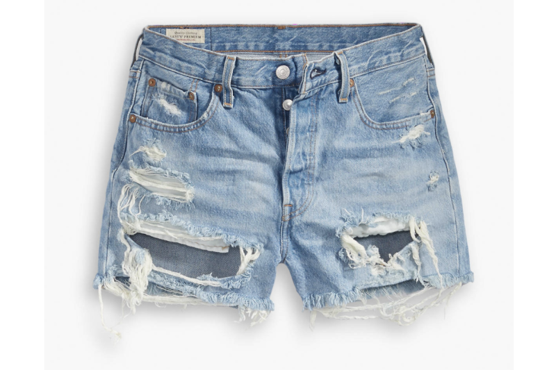Levi's 501 High Rise Shorts in Fault Line