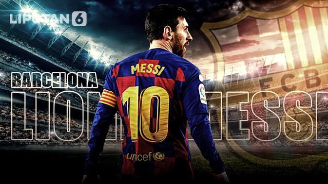 Lionel Messi bertahan di Barcelona (Infografis/Abdillah/Liputan6.com)