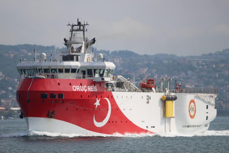 Turkey's Oruc Reis survey vessel back near southern shore, ship tracker shows