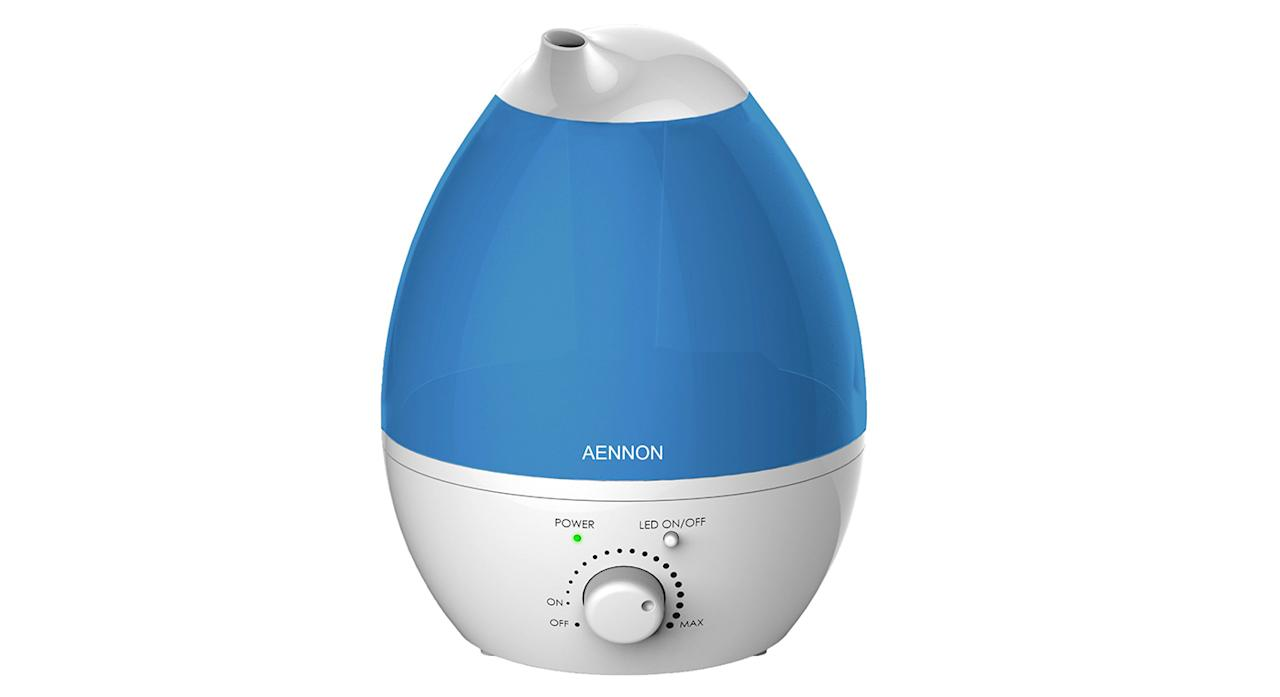 "As humidity can lead to a dry cough, irritated sinuses, itchy eyes and dry skin, it's imperative to add a bit of moisture to the room to help your child breathe better. This humidifier has been ELT Safety Approved for children as well and it can be used for over 20 hours without overheating. <a href=""https://www.amazon.co.uk/Humidifier-Improves-Health-Sleep-Focus/dp/B01C5YHFWO?tag=yahooukedit-21 ""><strong>Buy now.</strong></a>"