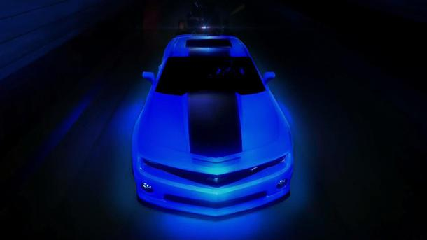 "Hot Wheels crafts glow-in-the-dark Camaro, trio of hot rods for ""World's Best Driver"""