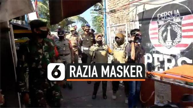 VIDEO: Razia Masker, Orangtua Cegah Anaknya Dibawa Satpol PP