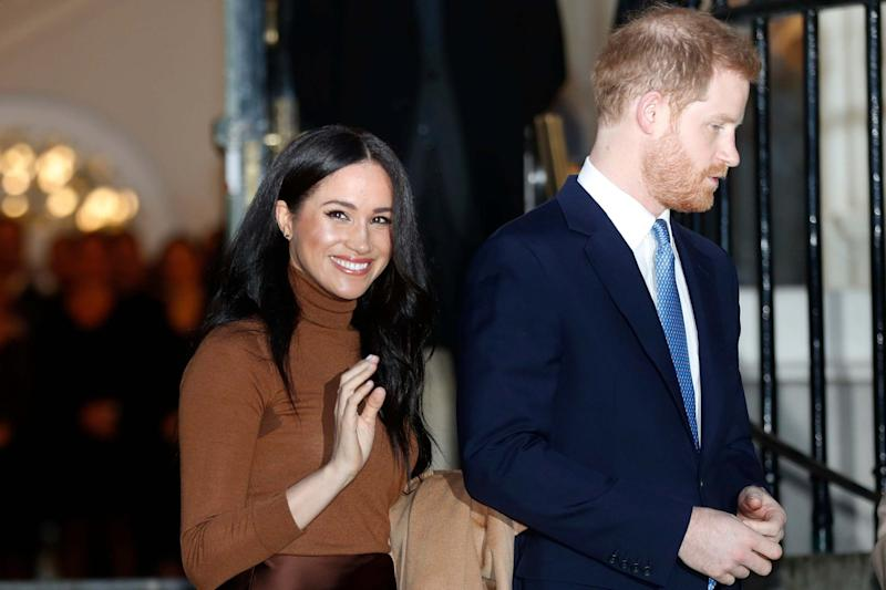 Meghan and Harry will step down from royal duties in the coming months (AP)