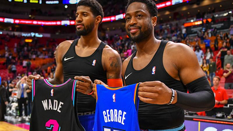 Many of the jerseys Dwyane Wade swapped with NBA players have become out of date thanks to trades and free agency.