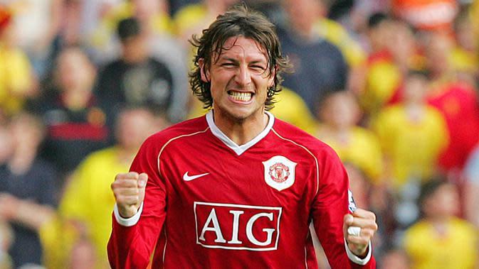 Gabriel Heinze adalah pemain bertahan yang punya tampil bagus saat membela Manchester United pada 2004-2007. Karier cemerlangnya berakhir seiring gangguan cedera yang membuatnya terlempar dari tim inti The Red Devils. (AFP/Carl De Souza)