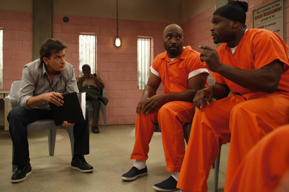 Charlie Sheen, James Black and Darius McCrary