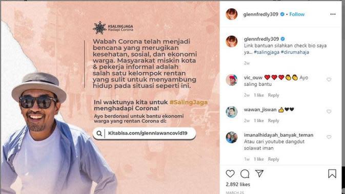 Sebelum Meninggal Dunia, Glenn Fredly Galang Dana untuk Penanganan Corona Covid-19. (dok.Instagram @glennfredly309/https://www.instagram.com/p/B-Jq8RAD6r0/Henry)