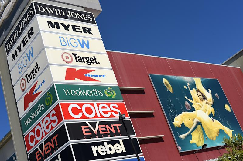 Photo of a shopping centre with Kmart, Big W and Target after a Brisbane woman claimed she was accused of shoplifting.