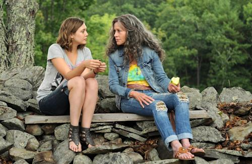 """This image released by IFC Films shows Elizabeth Olsen, left, and Jane Fonda in a scene from """"Peace Love and Misunderstanding."""" (AP Photo/IFC Films)"""