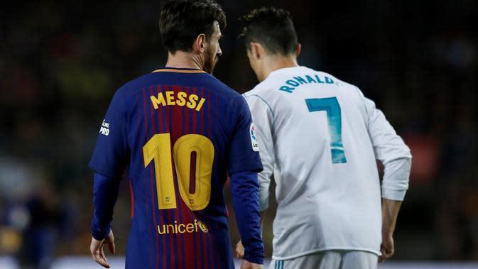 Lionel Messi dan Cristiano Ronaldo (AP Photo/Manu Fernandez)