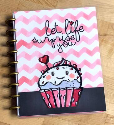 Cupcakes are like Muffins Quote Cover Set for use w// Happy Planner