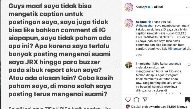 Akun Nora Alexandra Sempat Dibekukan Instagram. (instagram.com/ncdpapl)