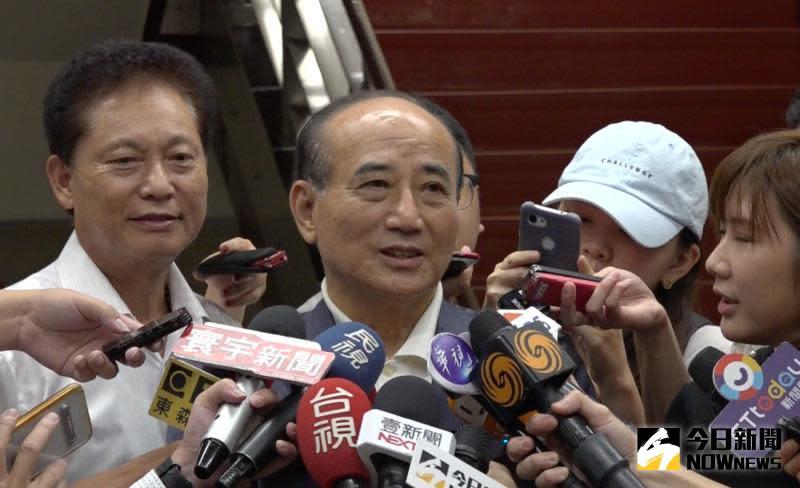 ▲前立法院長王金平力挺韓國瑜做好做滿。 (圖/記者陳明安攝影)