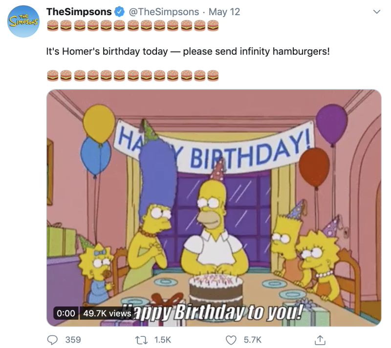 Photo credit: The Simpsons - Twitter
