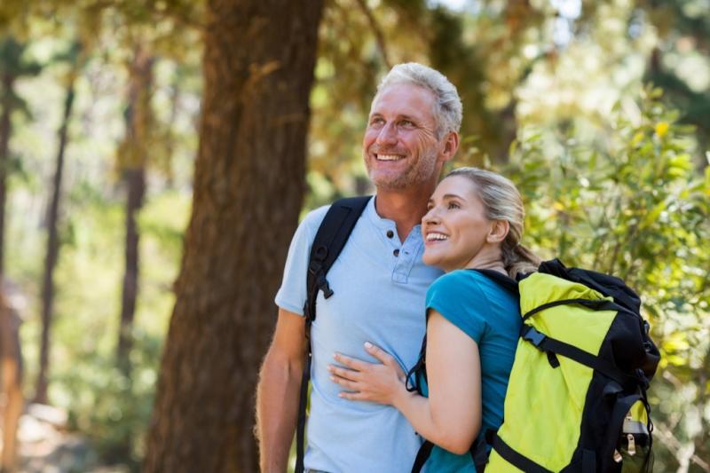 older couple hiking, over 50 regrets