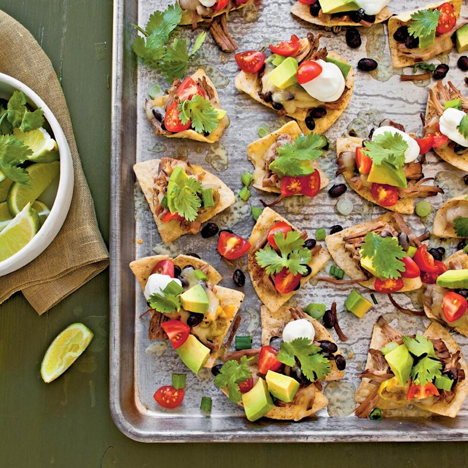 "<p>From the Kitchen of Julie Hutson, Callahan, Florida. ""This is surprisingly yummy to have such simple ingredients."" </p><p><a href=""https://www.myrecipes.com/recipe/slow-cooker-beef-nachos"">Slow-Cooker Beef Nachos Recipe</a></p>"