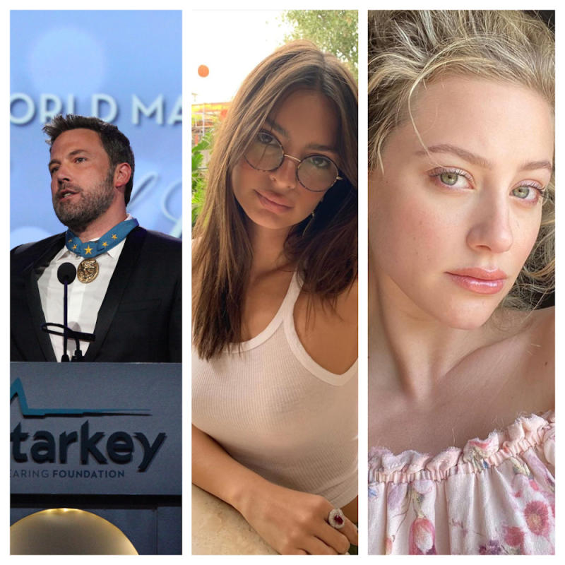 Ben Affleck, Emily Ratajkowski and Lili Reinhard were among the few celebrities that took to the streets to join the George Floyd protests. — Pictures from Instagram/lilireinhart/EmilyRatajkowski/benaffleck