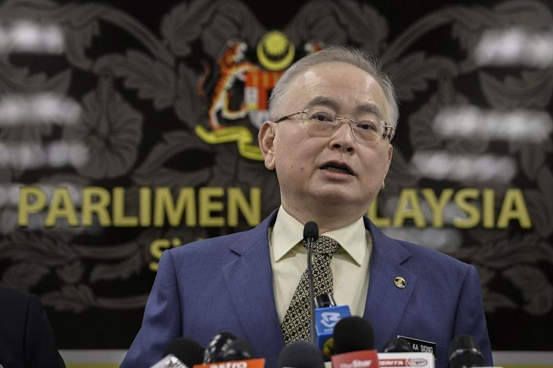Transport Minister Datuk Seri Wee Ka Siong speaks during a press conference at Parliament in Kuala Lumpur July 15, 2020. — Picture by Miera Zulyana