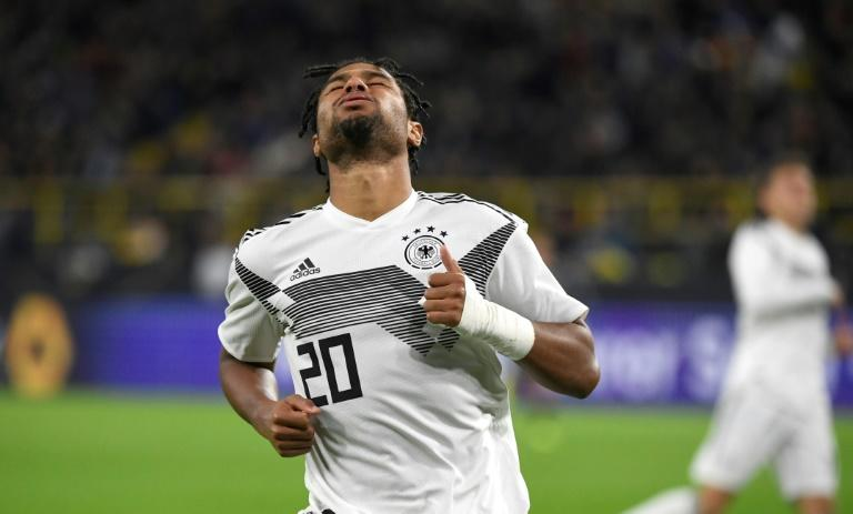 Germany's forward Serge Gnabry shows his frustration as Argentina scored two second-half goals in Wednesday's 2-2 draw in Dortmund
