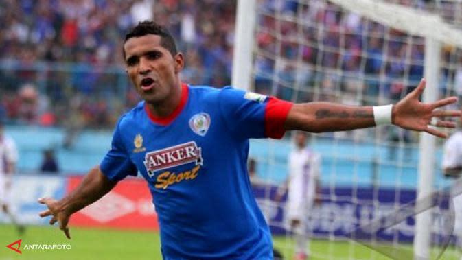 Alberto Goncalves saat berseragam Arema FC pada 2014.